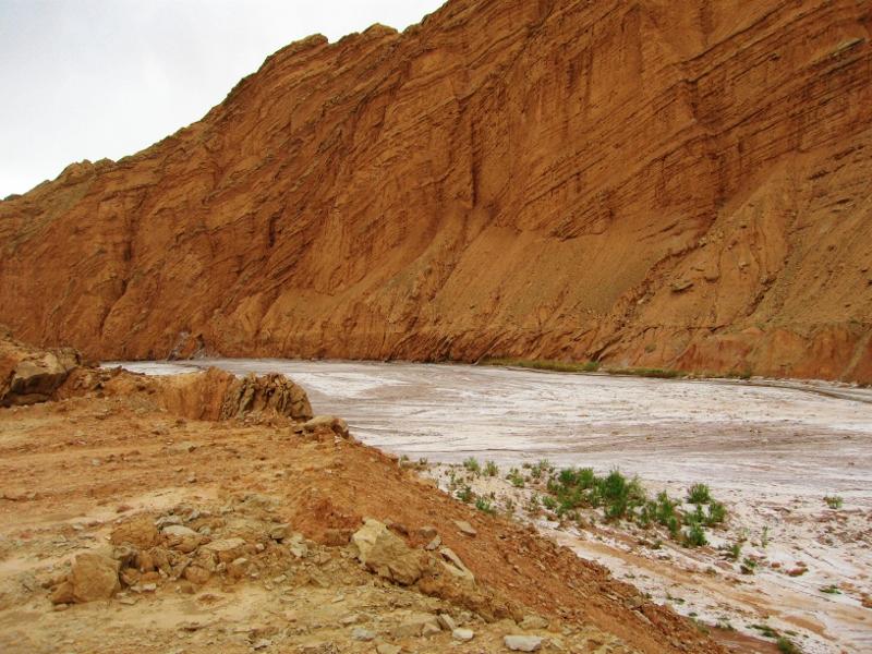 A salt river outside of Kucha