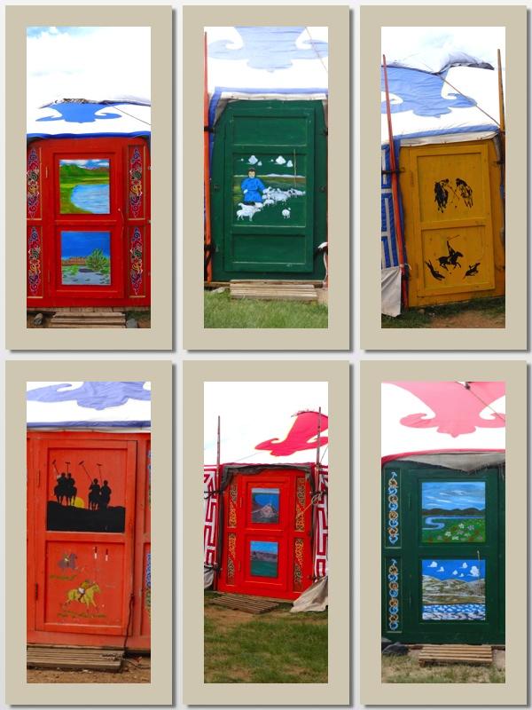 painted ger doors