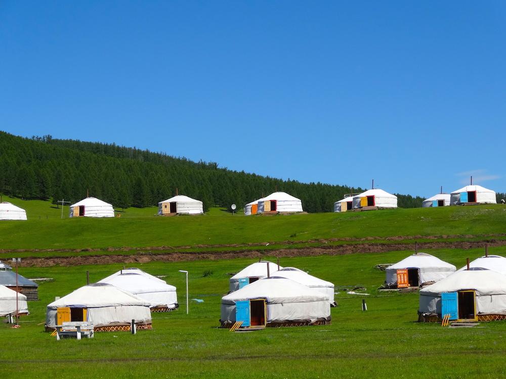 tourists ger camp mongolia1