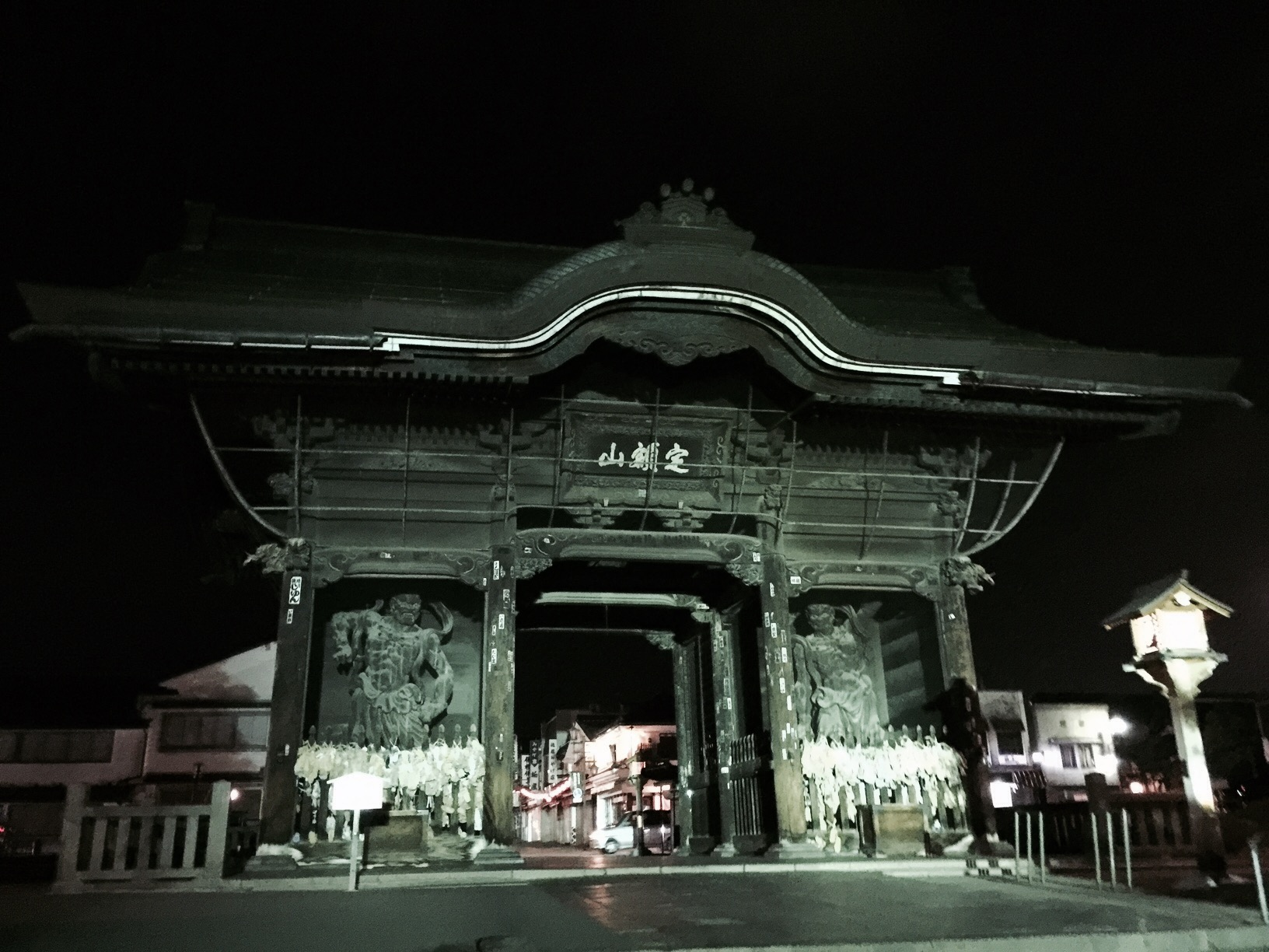 Zenkoji Temple gate in Nagano Japan
